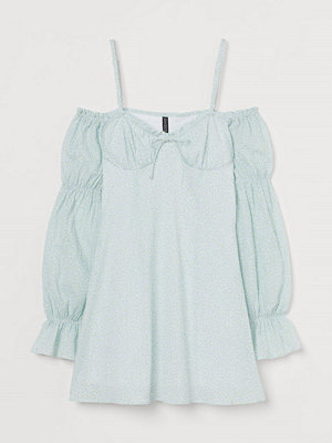H&M Cold shoulder-klänning vit