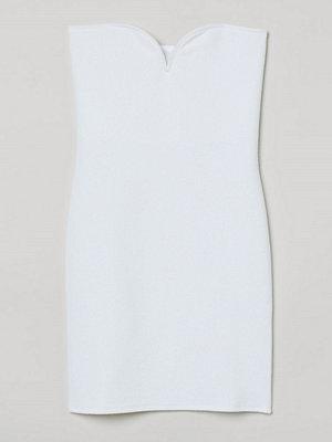 H&M Axelbandslös klänning vit