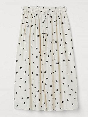 H&M Cirkelskuren kjol vit