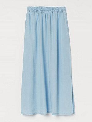 H&M Kjol med slits blå