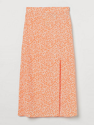 H&M Kjol i viskos orange