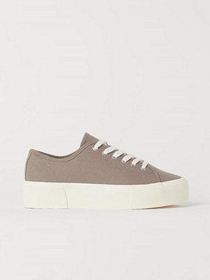 H&M Platåsneakers brun