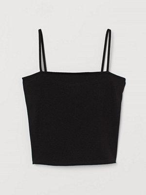 H&M Kort linne svart