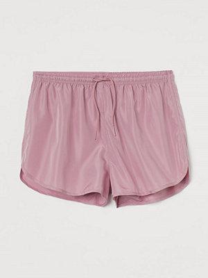 H&M Träningsshorts High waist rosa