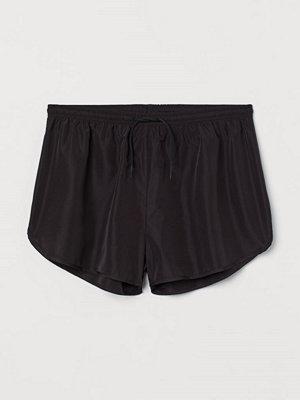 H&M Träningsshorts High waist svart
