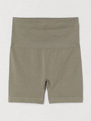 H&M Seamless hotpants grön