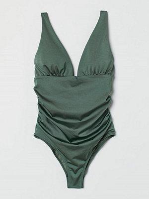 H&M Shape-baddräkt grön