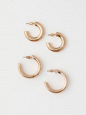 H&M 2-pack örhängen guld