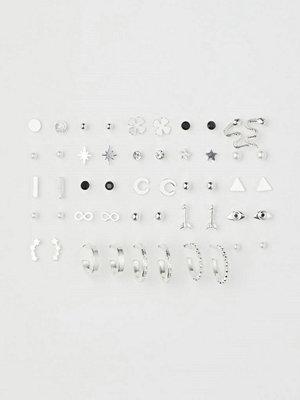 H&M 25 par örhängen silver