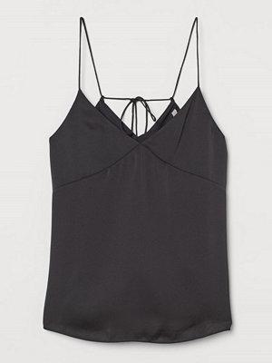 H&M V-ringat linne grå