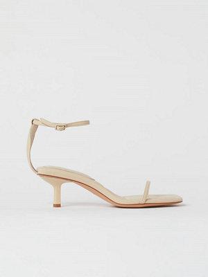 H&M Sandaletter med kantig tå beige