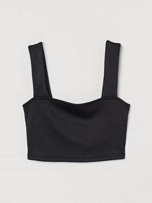 H&M Croppat linne svart
