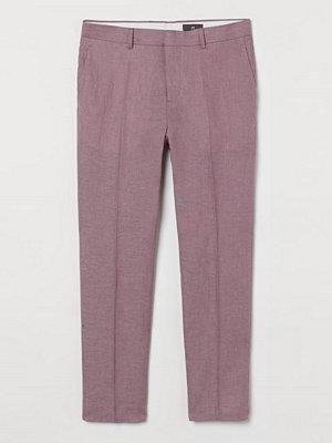 H&M Kostymbyxa i linne Slim Fit lila