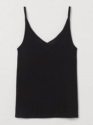 H&M Finstickat linne svart