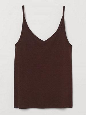 Linnen - H&M Finstickat linne brun