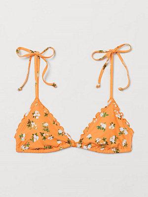 H&M Vadderad trekantsbikini-bh orange