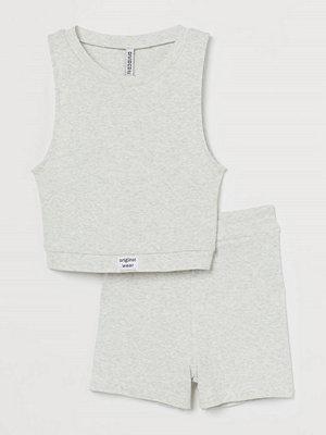 H&M Ribbad pyjamas grå