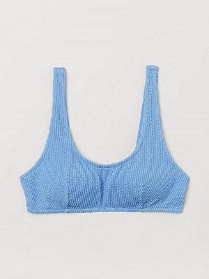 H&M Vadderad bikinitopp blå