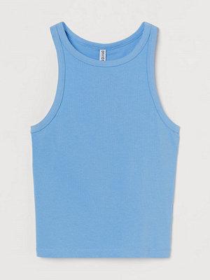H&M Croppad tanktop blå