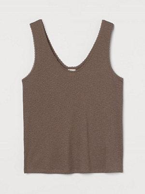 H&M Linne i modalmix brun