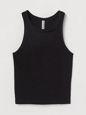 H&M Croppad tanktop svart