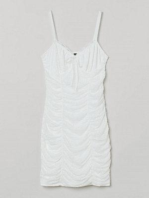 H&M Draperad klänning vit