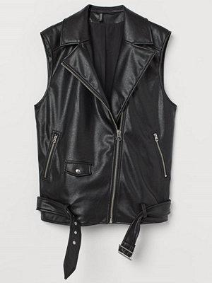 H&M Bikerväst svart