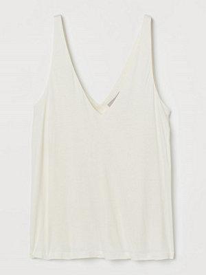 H&M V-ringat linne vit