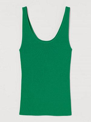 H&M Stickat linne grön