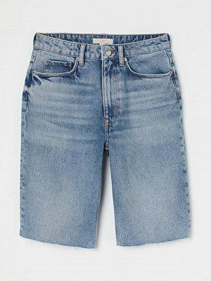 H&M Slim Jeansshorts blå