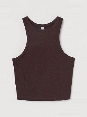 H&M Ribbad tanktop brun