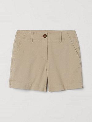 Shorts & kortbyxor - H&M Shorts i bomullstwill beige