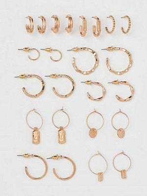 H&M 12 par runda örhängen guld