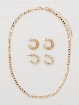 H&M Halsband och örhängen guld