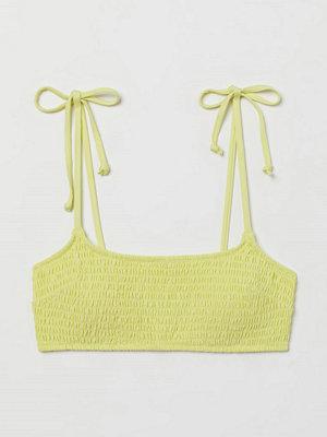 H&M Vadderad bikinitopp gul
