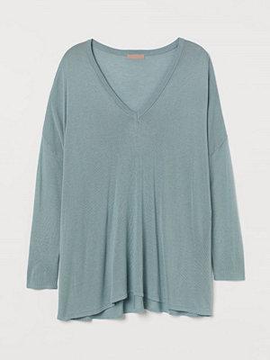 H&M H & M+ Finstickad tröja turkos