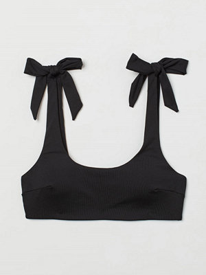 H&M Vadderad bikinitopp svart