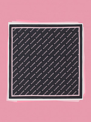 H&M Mönstrad satinscarf svart