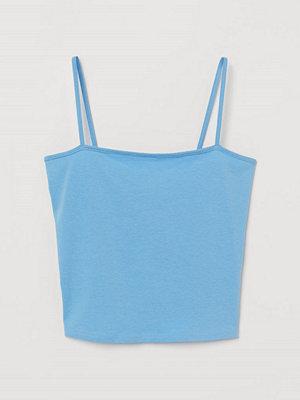 H&M Kort linne blå