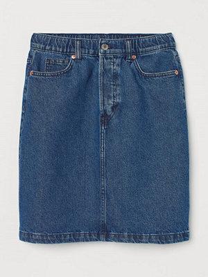 H&M Jeanskjol High Waist blå