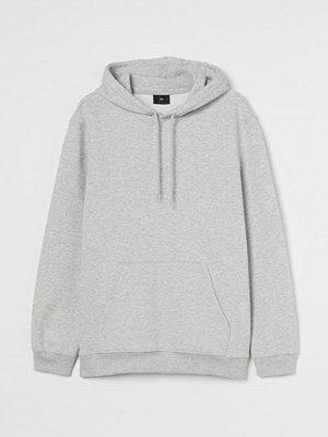 H&M Huvtröja Relaxed Fit grå