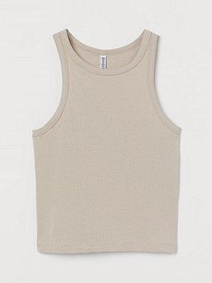 H&M Croppad tanktop brun