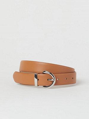 H&M Skärp i läderimitation orange