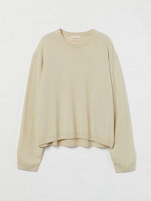 H&M Finstickad tröja i kashmir beige