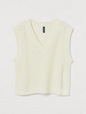 H&M Stickad slipover vit