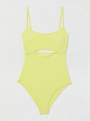 Baddräkter - H&M Baddräkt med vadderade kupor gul