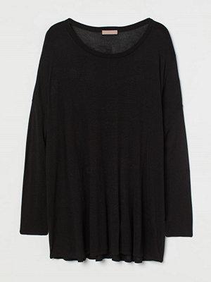 H&M H & M+ Finstickad tröja svart