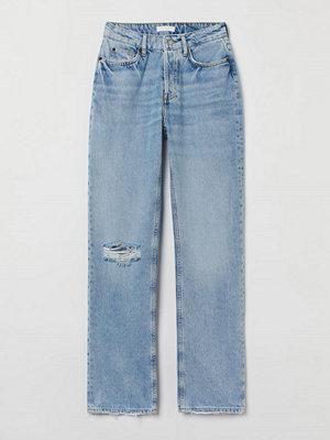 H&M Straight High Jeans blå