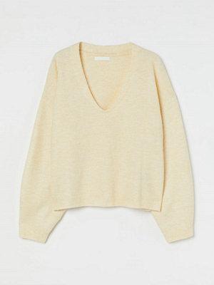 H&M Stickad tröja gul