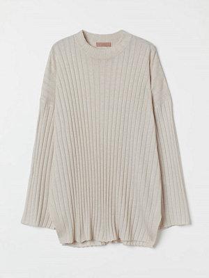 H&M Ribbad tröja beige